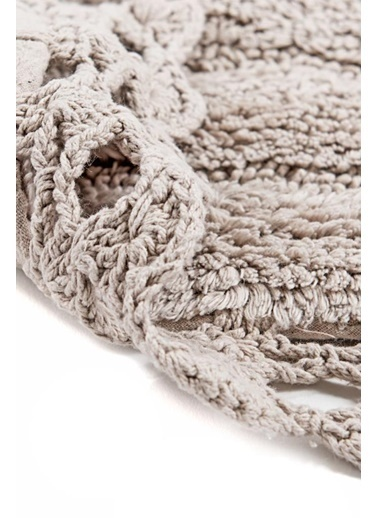 Giz Home Lace 2'li Set Klozet Takımı Oval Banyo Paspası Stone Taş Taş